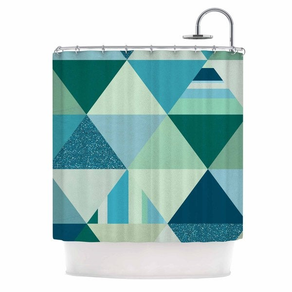 KESS InHouse Noonday Design 'The Triangle Blues' Shower Curtain (69x70)