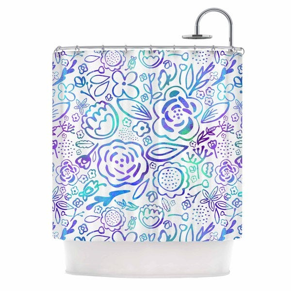 KESS InHouse Noonday Design 'Floral Explosion' Shower Curtain (69x70)