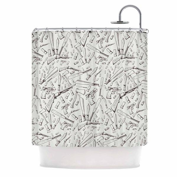 KESS InHouse Stephanie Vaeth 'Apocalyptic Weapons' Shower Curtain (69x70)