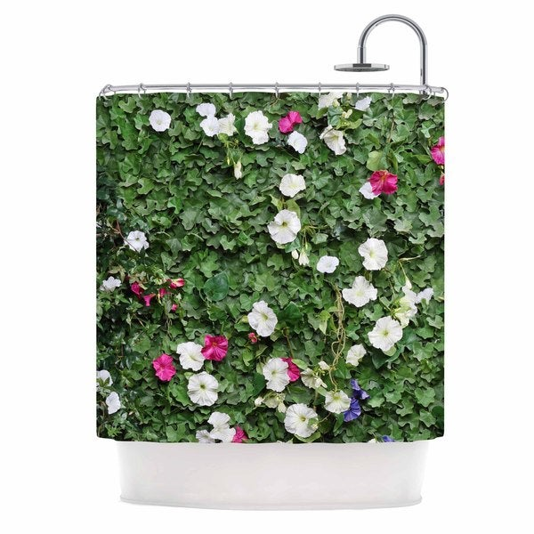 KESS InHouse Susan Sanders 'Green Flower Vine Wall' Shower Curtain (69x70)