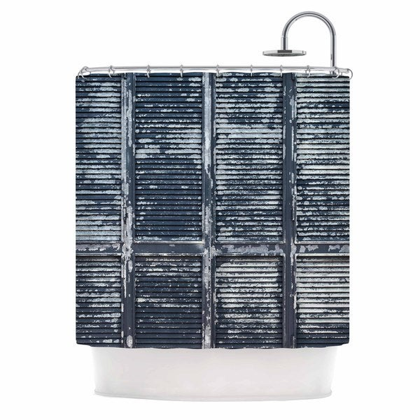 KESS InHouse Susan Sanders 'Rustic Blue Shutters' Shower Curtain (69x70)