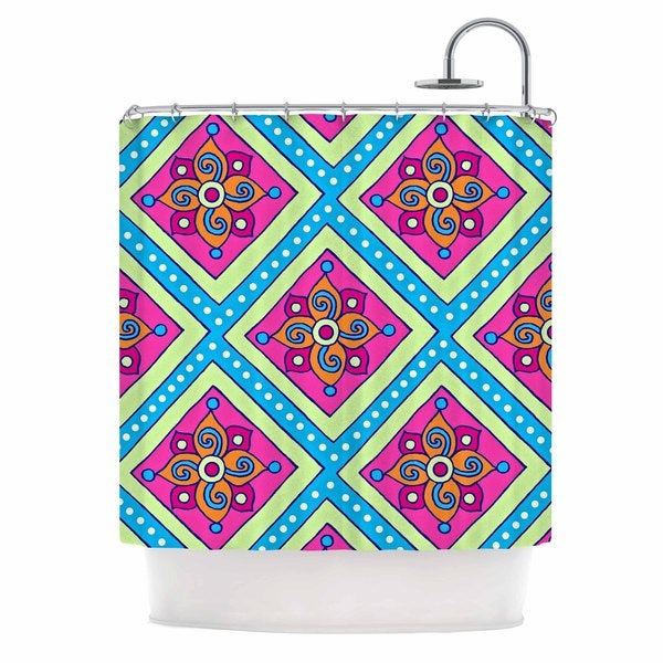 KESS InHouse Sarah Oelerich 'Colorful Diamonds' Shower Curtain (69x70)