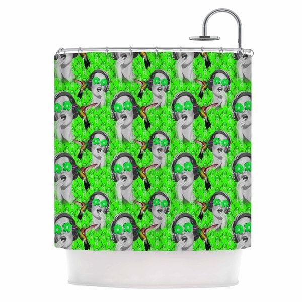 KESS InHouse Shirlei Patricia Muniz 'Good Vibes' Shower Curtain (69x70)