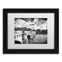 Philippe Hugonnard 'Paris Bridge' Matted Framed Art