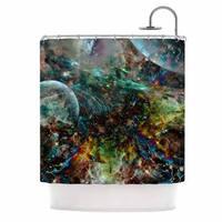 KESS InHouse Shirlei Patricia Muniz 'Space' Shower Curtain (69x70)