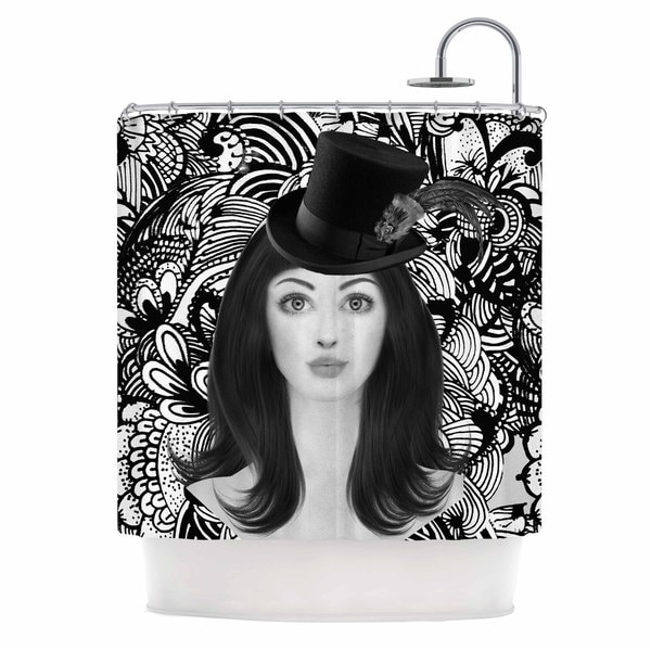 KESS InHouse Shirlei Patricia Muniz 'The Secret Of The Hat' Shower Curtain (69x70)