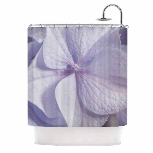 KESS InHouse Suzanne Harford 'Pastel Purple Hydrangea Flower' Shower Curtain (69x70)