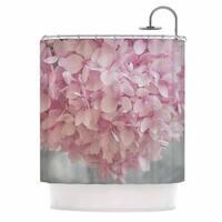 KESS InHouse Suzanne Harford 'Pastel Pink Hydrangea Flowers' Shower Curtain (69x70)