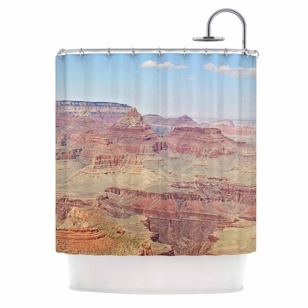 KESS InHouse Sylvia Coomes 'Grand Canyon Panoramic' Shower Curtain (69x70)