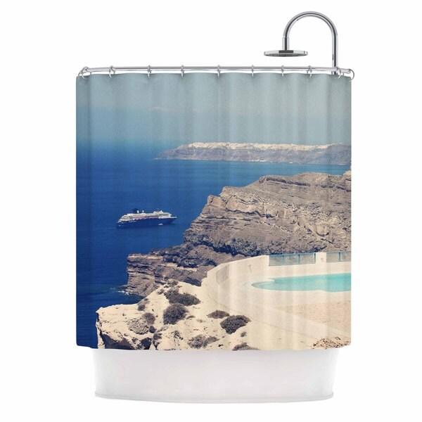 KESS InHouse Sylvia Coomes 'Greek Paradise' Shower Curtain (69x70)