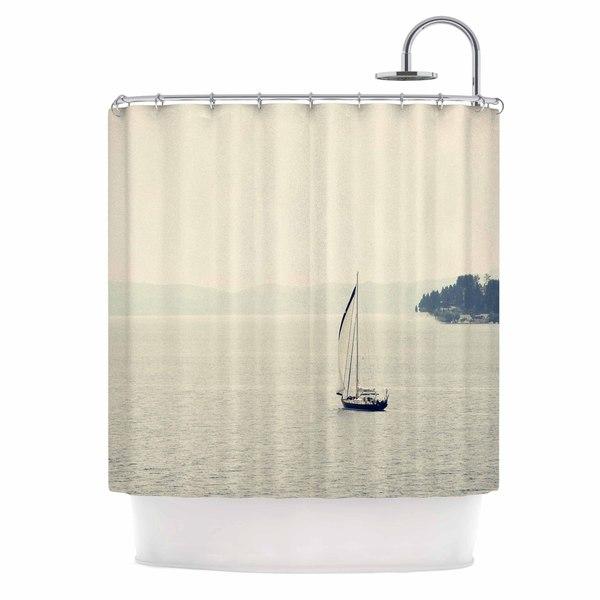 KESS InHouse Sylvia Coomes 'Hazy Sea' Shower Curtain (69x70)
