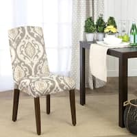 HomePop Suri Curved Top Parson Dining Chair (Set of 2)