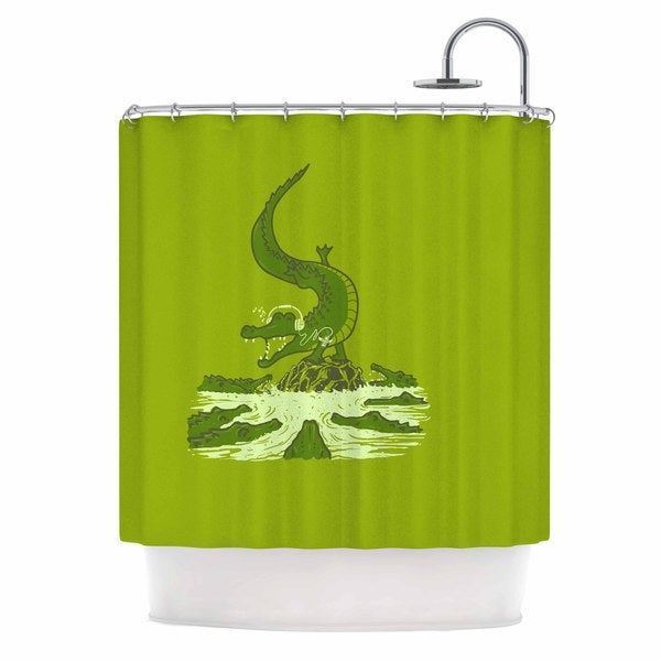 KESS InHouse BarmalisiRTB 'Breakdance Crocodile' Shower Curtain (69x70)