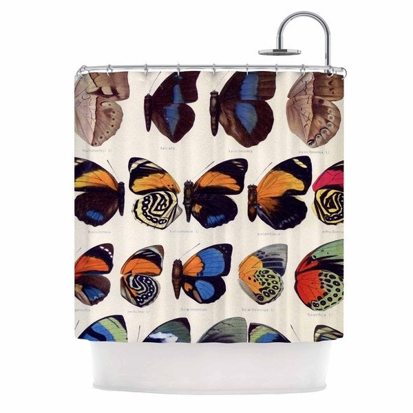 KESS InHouse Suzanne Carter 'Vintage Wings' Shower Curtain (69x70)