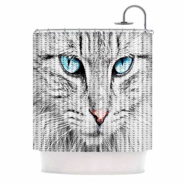 Shop KESS InHouse Suzanne Carter \'Cat\' Shower Curtain (69x70) - Free ...