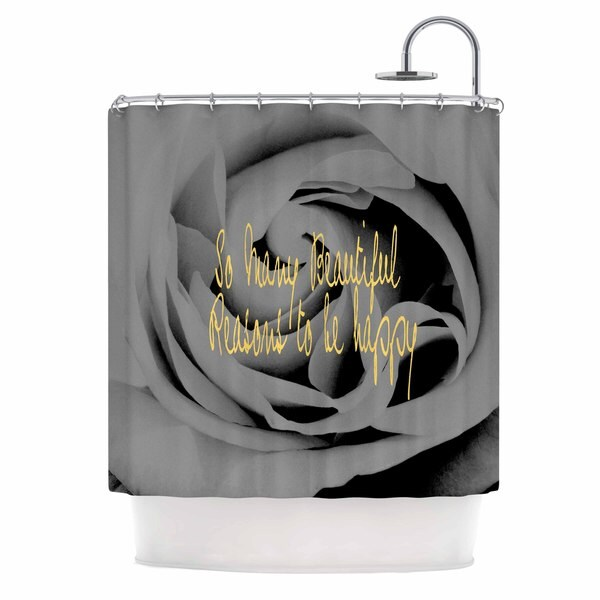 KESS InHouse Suzanne Carter 'Happy' Shower Curtain (69x70)