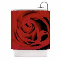 KESS InHouse Suzanne Carter 'Red' Shower Curtain (69x70)