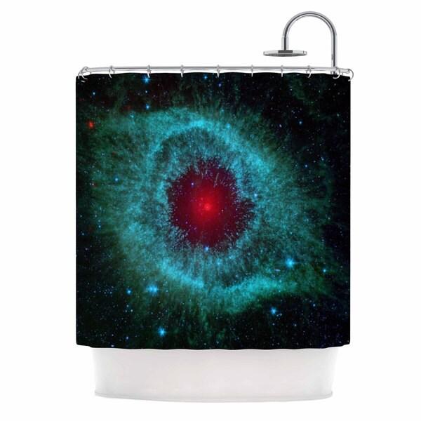 KESS InHouse Suzanne Carter 'Helix Nebula' Shower Curtain (69x70)
