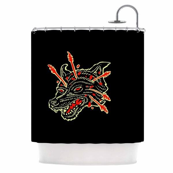 KESS InHouse BarmalisiRTB 'Dead Wolf' Shower Curtain (69x70)