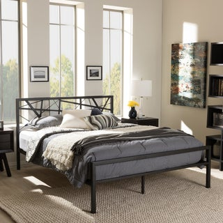 Baxton Studio Andreas Modern Iron Metal Platform Bed