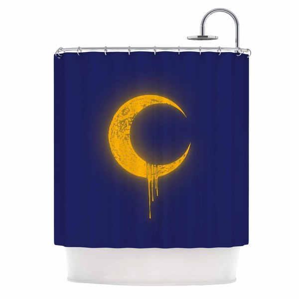 KESS InHouse BarmalisiRTB 'Melting Moon2' Shower Curtain (69x70)