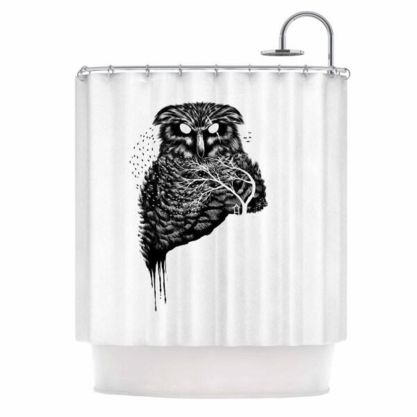 KESS InHouse BarmalisiRTB 'Autumn Owl' Shower Curtain (69x70)