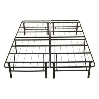Sleep Sync Black Steel 18-inch Queen Size Premium Platform Bed Frame