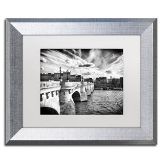 Philippe Hugonnard 'Paris Bridge' Matted Framed Art