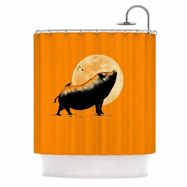 KESS InHouse BarmalisiRTB 'Barking Pig' Shower Curtain (69x70)