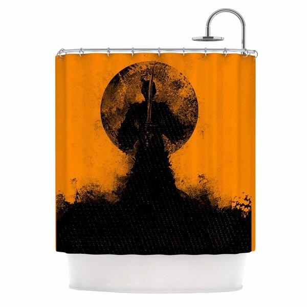 KESS InHouse BarmalisiRTB 'Black Samuari' Shower Curtain (69x70)