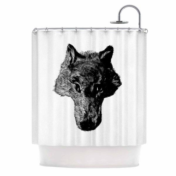 KESS InHouse BarmalisiRTB 'Black Coyote' Shower Curtain (69x70)
