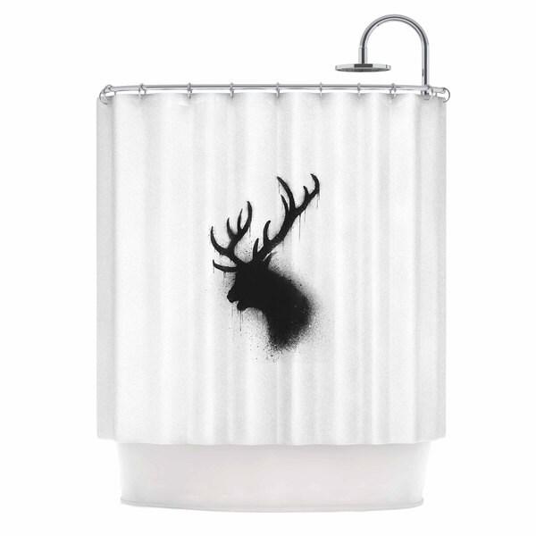 KESS InHouse BarmalisiRTB 'Dark Deer' Shower Curtain (69x70)