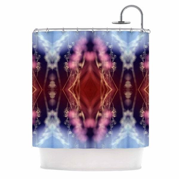 KESS InHouse Pia Schneider 'Abstract Floral' Shower Curtain (69x70)