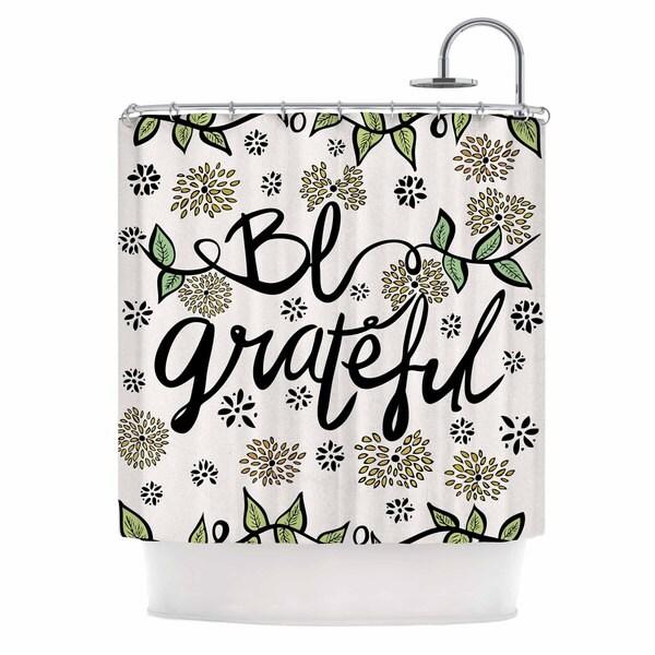 KESS InHouse Pom Graphic Design 'Be Grateful' Shower Curtain (69x70)