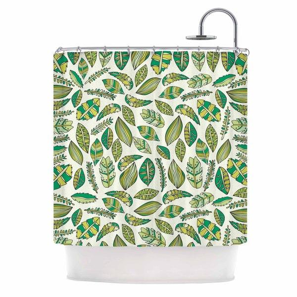 KESS InHouse Pom Graphic Design 'Tropical Botanicals' Shower Curtain (69x70)