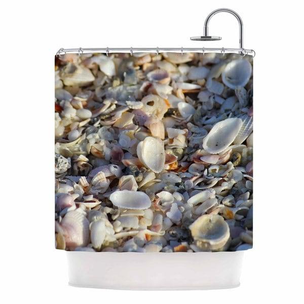 KESS InHouse Philip Brown 'Seashells On The Beach' Shower Curtain (69x70)
