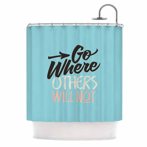 KESS InHouse Juan Paolo 'Go Where Others Will Not' Shower Curtain (69x70)