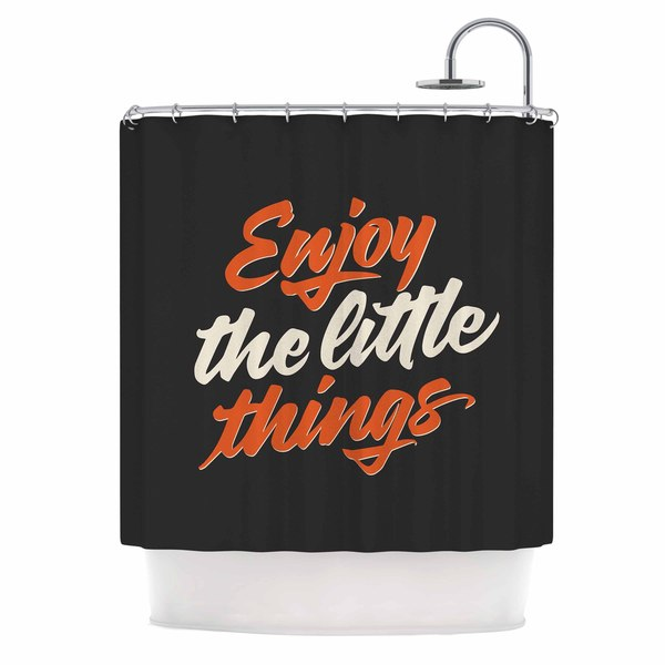 KESS InHouse Juan Paolo 'Enjoy The Little Things' Shower Curtain (69x70)