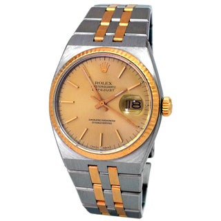 Pre-Owned Rolex Men's Vintage 18k Yellow Gold and Stainless Steel Oyster Quartz Datejust Watch