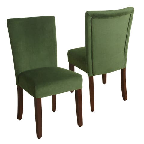 HomePop Velvet 2 Pack Parson Dining Chair