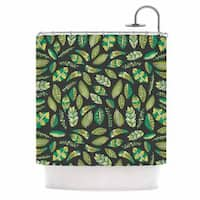 KESS InHouse Pom Graphic Design 'Tropical Botanicals 2' Shower Curtain (69x70)