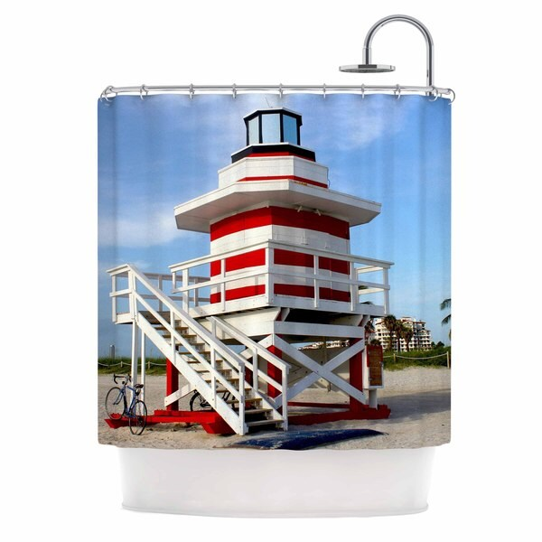 KESS InHouse Philip Brown 'Lighthouse Lifeguard Stand' Shower Curtain (69x70)