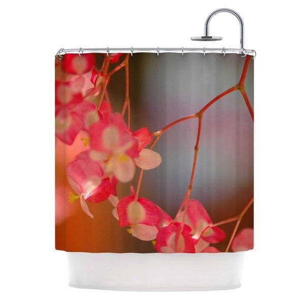KESS InHouse NL Designs 'Hanging Flowers' Shower Curtain (69x70)