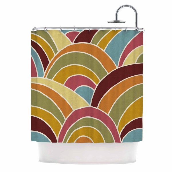 KESS InHouse Nacho Filella 'Arcs' Shower Curtain (69x70)