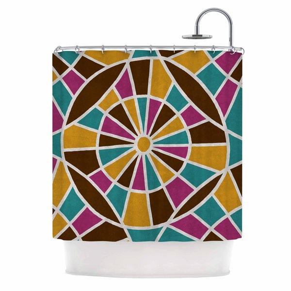 KESS InHouse Nacho Filella 'Eyes' Shower Curtain (69x70)