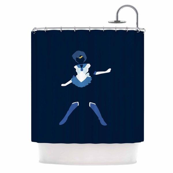 KESS InHouse NL Designs 'Mercury Senshi' Shower Curtain (69x70)