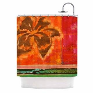 Kess Inhouse Malia Shields Warmth Orange Red Shower
