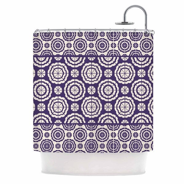 KESS InHouse Nacho Filella 'Flowers' Shower Curtain (69x70)