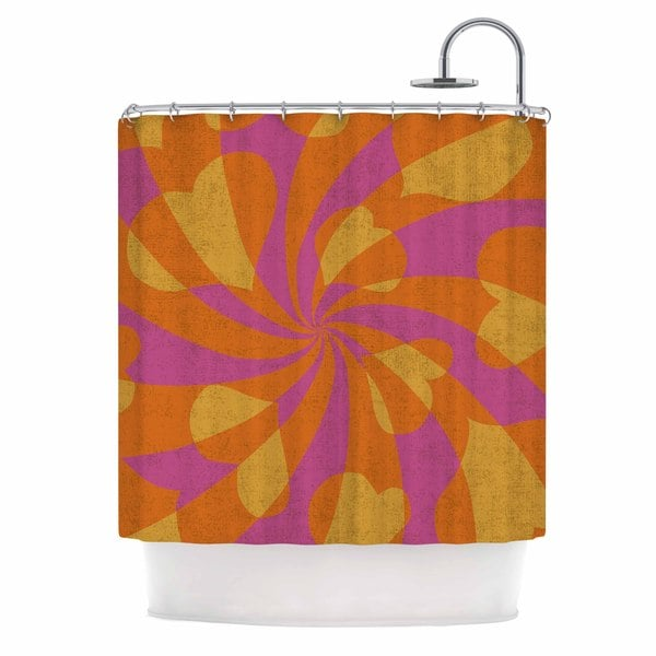 KESS InHouse Nacho Filella 'Heart Explosion' Shower Curtain (69x70)