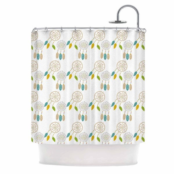 KESS InHouse Petit Griffin 'Dream Catchers' Shower Curtain (69x70)